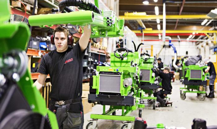 Avant valmistaa vuodessa noin 4 000 työkonetta.