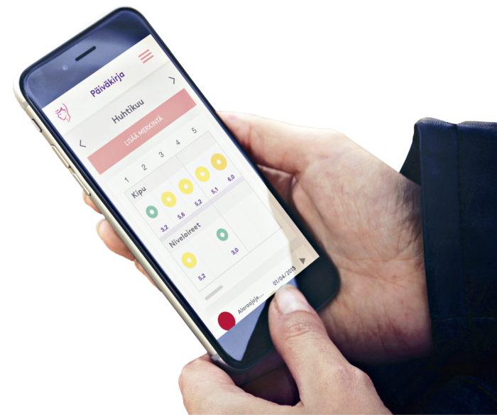 Noonan avulla syöpäpotilaat raportoivat oireistaan hoitotiimille matkapuhelimellaan.