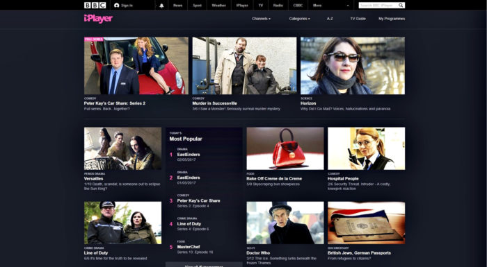 BBC:n verkkopalvelun ohjelmat näkyvät normaalisti vain Britanniassa. Freedomen kautta ohjelmat voi katsella myös Suomessa.