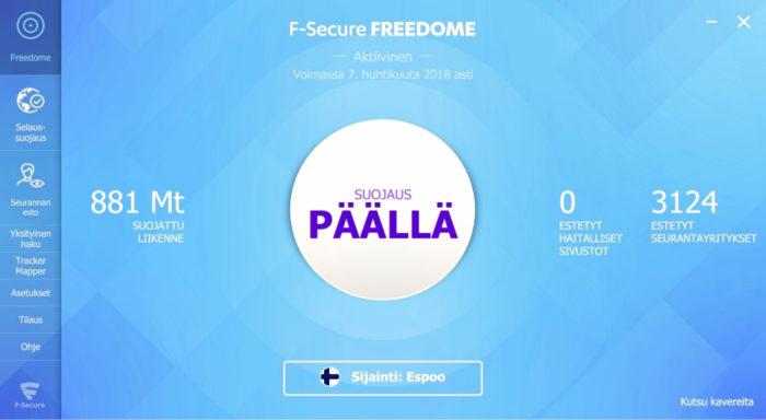 Freedome esti yli 3 000 seurantayritystä muutamassa päivässä.