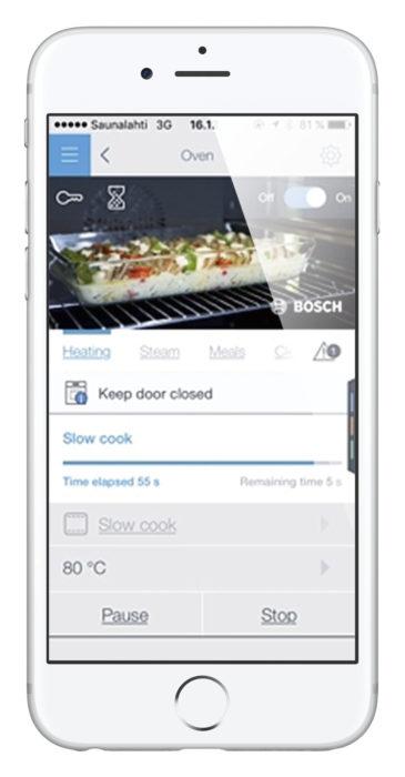 Boschin sovellus ei houkuta käyttämään sitä. Sovelluksen kautta saadaan perustoiminnot tehtyä, mutta ohjelmat on laadittu ikävään listamuotoon pienin mustavalkokuvin.