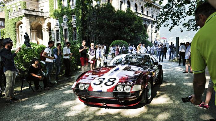 Ferrari 365 GTB/4 Competizione (Daytona) -erikoismallin omistaja antoi auliisti ääninäytteitä tehdasviritetyn vapaasti hengittävän V12-koneen pauhusta. Jos äänistä olisi jaettu palkinnot, olisi Daytona putsannut pöydän.