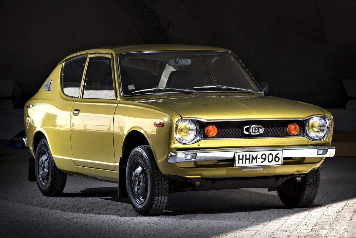 Datsun 100A oli yksi 1970-luvun suosikkimalleista. Koko oli kompakti ja hinta sopiva.