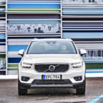 Jykevä ja selkeälinjainen muotoilu erottuu selvästi isommista Volvoista.