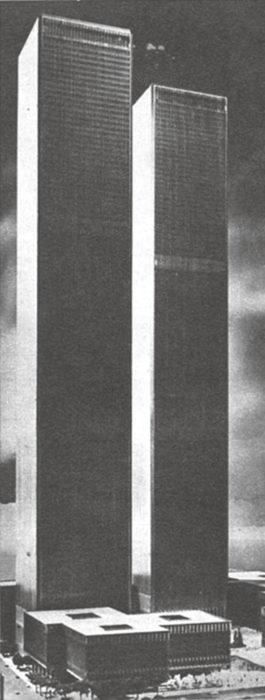 Yleisluonnos mahtavista rakennuksista, joista tulee 1972 Yhdysvaltain kaupan polttopiste.