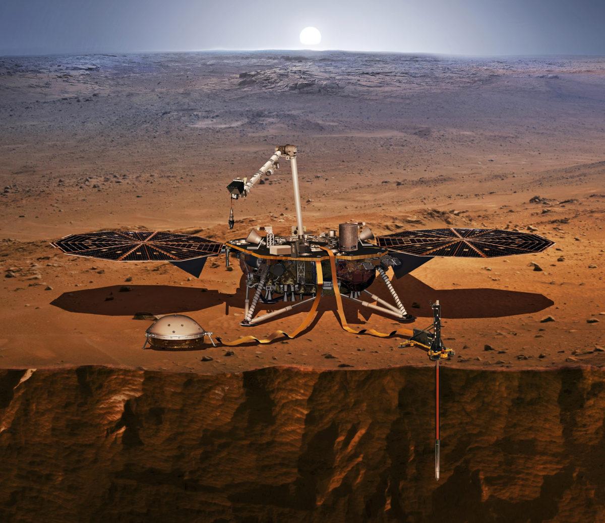 InSight laskeutuu Marsiin marraskuun 26. päivänä, minkä jälkeen se aloittaa toimintansa rauhallisesti. Vasta helmikuussa 2019 se on piirroksen näyttämässä kunnossa sondaamassa punaisen planeetan sisustaa.
