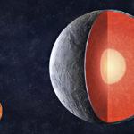InSight koettaa selvittää Marsin sisustaa seismometrillä maanjäristysaaltoja tutkimalla samaan tapaan kuin maapallon sisustasta on saatu hyvä kuva. Piirros näyttää, miten Marsin oletetaan syntyneen: syntyvaiheessa planeetta oli kuuma, jolloin painava rautapitoinen aines kerääntyi keskelle. Yhä edelleen Marsillakin olisi rautaydin ympärillään vaippa ja päällä kuorikerros.