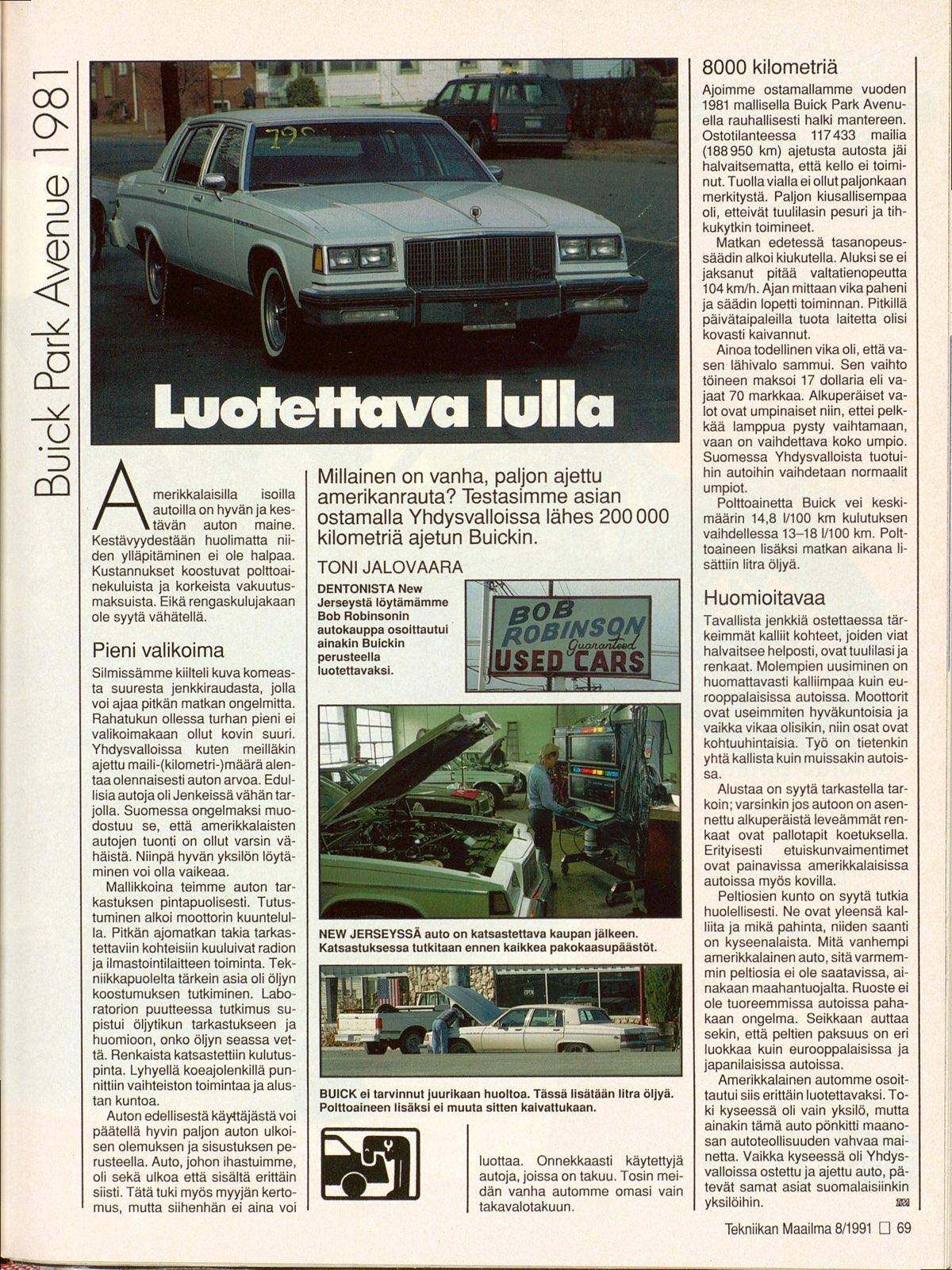 Park Ave Auto >> Buick Park Avenue 1981 08 1991 Nakoislehti