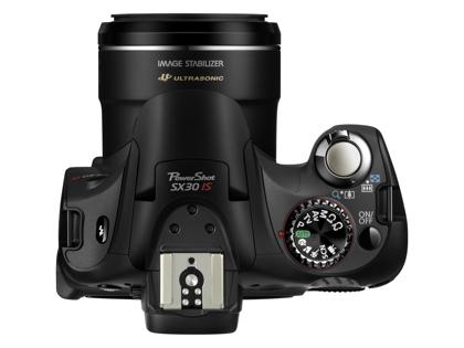 Canon PowerShot SX30 ylä