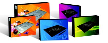 Wacom Bamboo -pakkaukset
