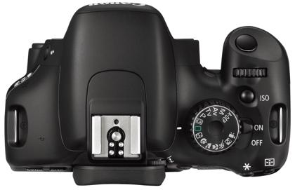 Canon EOS 550D päältä