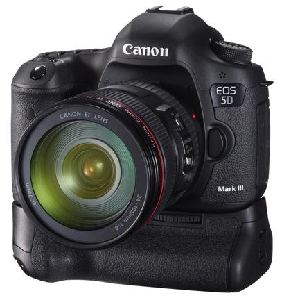 Canon EOS 5D Mark III akkukahva