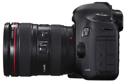 Canon EOS 5D Mark III sivulta