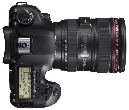 Canon EOS 5D Mark III päältä