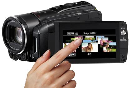 Canon Legria HF M32 kosketusnäyttö