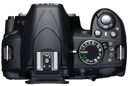 Nikon D3100 päältä