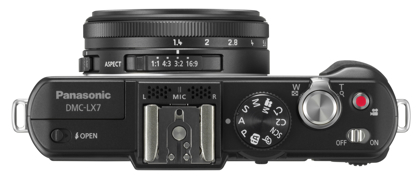 Panasonic DMC-LX7 ylä