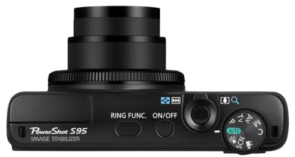 Canon PowerShot S95 päältä