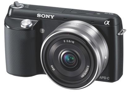 Sony NEX-F3 edestä
