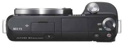 Sony NEX-F3 ylhäältä