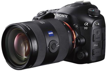 Sony Alpha SLT-A99 edestä