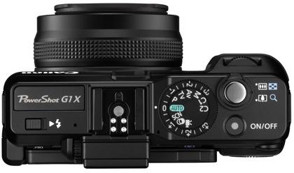 Canon PowerShot G1 X päältä