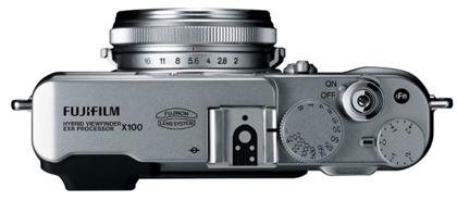 Fujifilm FinePix X100 päältä