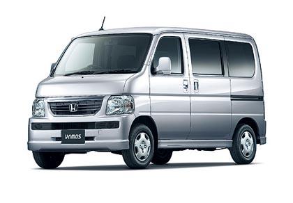 Honda Vamos (34–47 kW): mikroautojen sarjaan kuuluvaan 3,4 metrin pituiseen autoon mahtuu neljä matkustajaa.