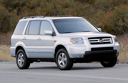 Honda Pilot (178 kW): tyypillinen katumaasturi etu- tai nelivetoisena.