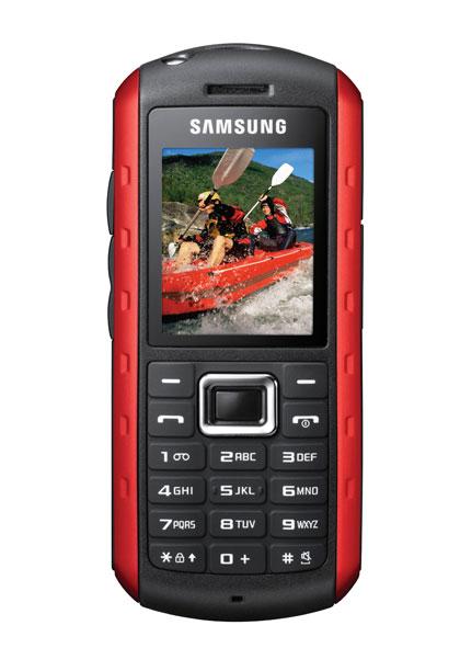 SAMSUNG B2100:lla on kaikki edellytykset paljon ulkona liikkuvan puhelimeksi. Tavallista kovempaa käyttöä sietävän Samsung B2100 -puhelimen luvataan kestävän parin metrin pudotuksen ja jopa upottamisen 30 minuutiksi veteen metrin syvyyteen. Puhelimessa on ula-radio, mp3-soitin, kamera, taskulamppu ja langaton bluetooth. Samsung B2100 on luvassa kauppoihin keväällä.