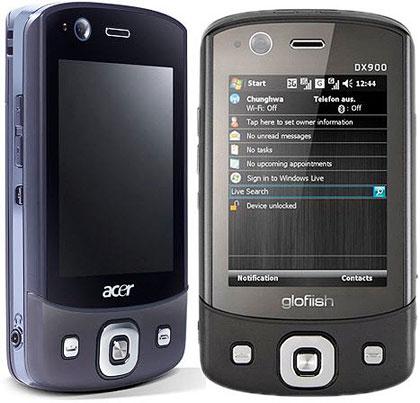 TIETOKONEVALMISTAJA Acer julkisti Barcelonan matkapuhelintapahtumassa neljä uutta älypuhelinmallia. Kaikissa neljässä laitteessa on kosketusnäyttö, gps-vastaanotin, bluetooth 2.0 sekä wlan ja hsdpa-tuki. Acer DX900:n erikoisuutena on, että siinä voi käyttää kahta sim-korttia samanaikaisesti. Näin puhelinta pystyy käyttämään erikseen sekä työ- että kotipuhelimena.